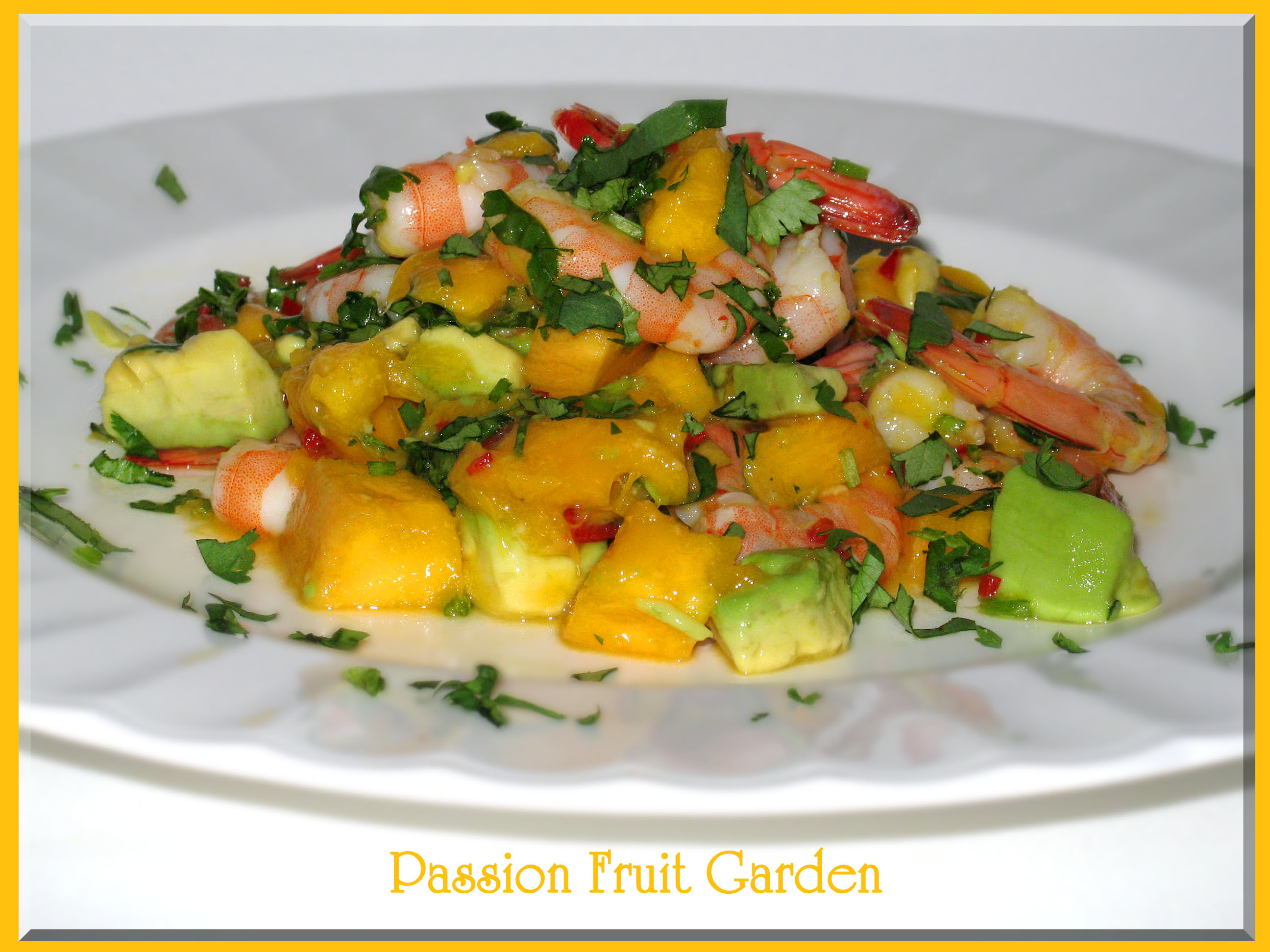 Prawn, Mango and Avocado Salad with Coconut Dressing | Passion Fruit ...