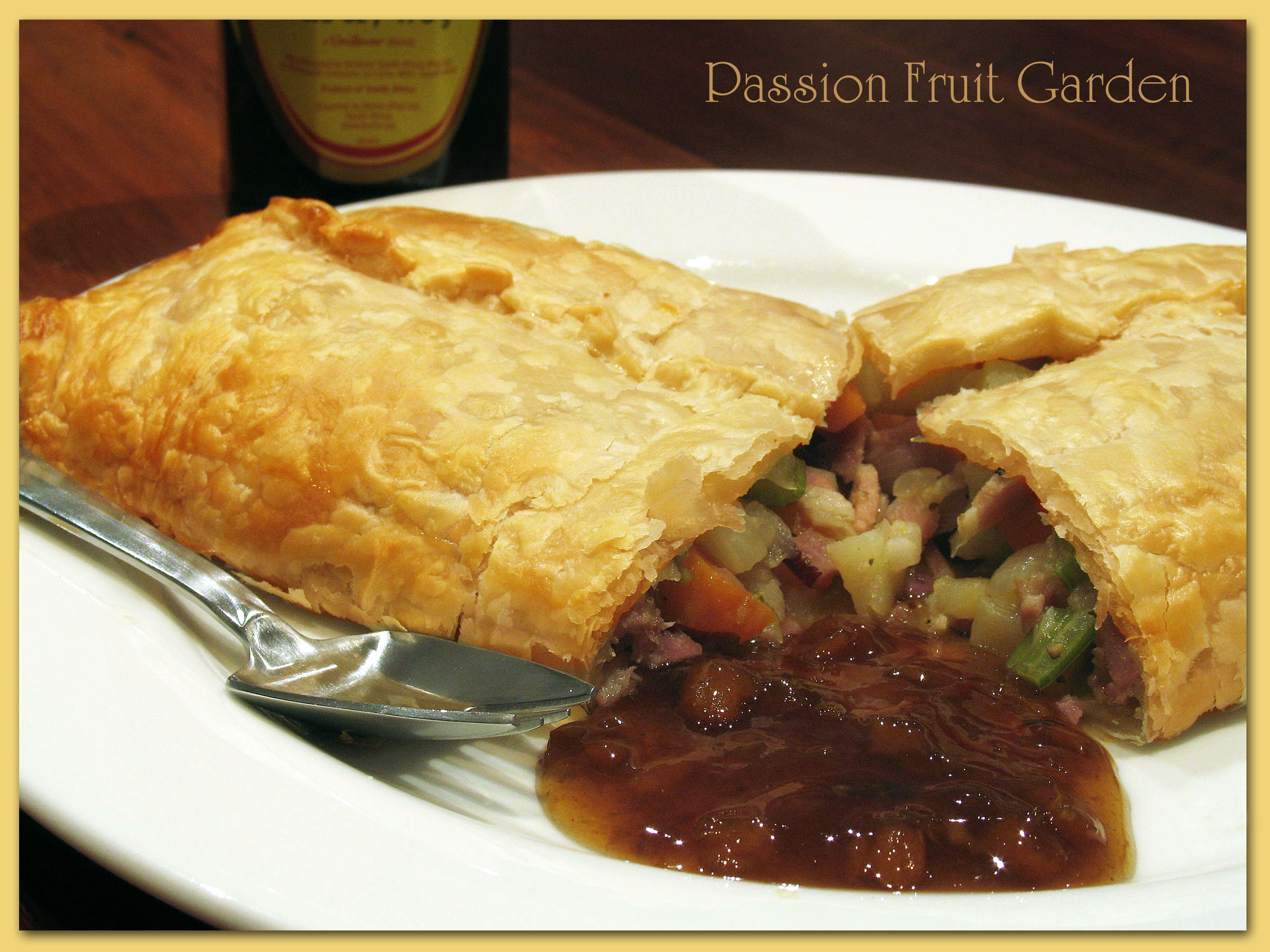 vegetable and bacon pasties passion fruit garden. Black Bedroom Furniture Sets. Home Design Ideas